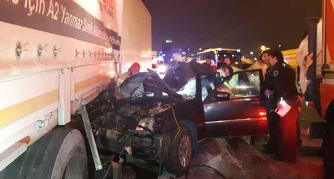 TEM otoyolunda trafik kazası: 1 ölü, 2 yaralı