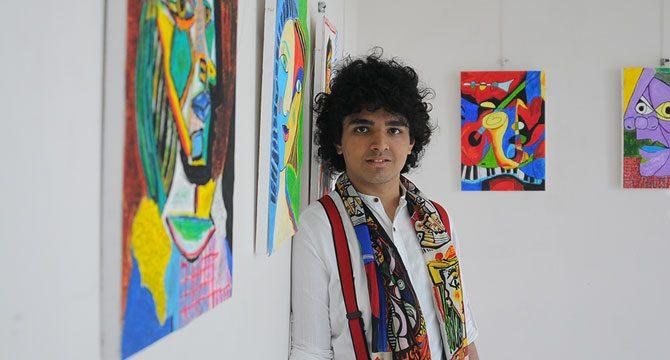 Otizmli Furkan, 3 boyutlu resim sergisi açtı