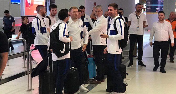 Chelsea, Süper Kupa finali için İstanbul'da