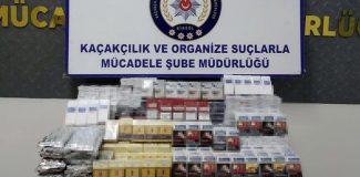Kablo makaralarının içinden 700 paket kaçak sigara çıktı