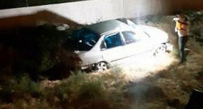 Şarampole devrilen otomobildeki genç öldü