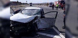 Kırıkkale'de iki otomobil çarpıştı: 7 yaralı