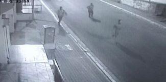 5 kişinin yaralandığı pompalı tüfekli saldırı kamerada
