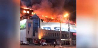 Rusya'da alışveriş merkezinde yangın çıktı