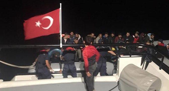 Bodrum açıklarında 82 kaçak göçmen yakalandı