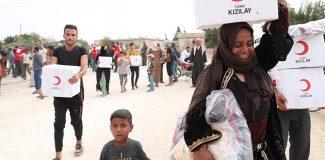 Kızılay'dan Tel Abyad'a insani yardım