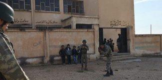PKK/YPG Rasulayn'da okulu mevzi yapmış