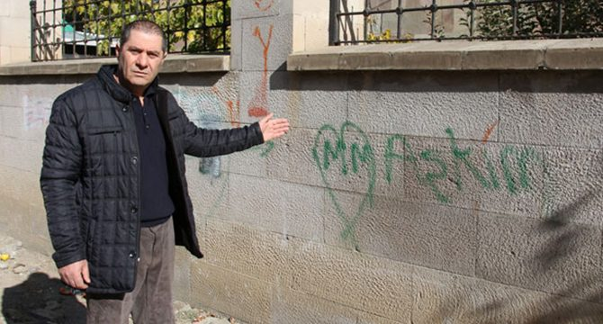 Aşklarını şehitlik duvarına yazanlara tepki