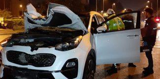 İstanbul'da korkunç kaza! Film izler gibi izlediler