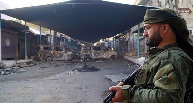 Resulayn´da SMO askerleri eli tetikte görev yapıyor