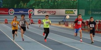 Atletizmde U14 Salon Festivali'nde rekor katılım
