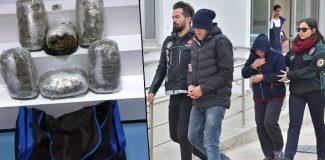 Anne ve oğlu evlerinde 11 kilo esrarla yakalandı