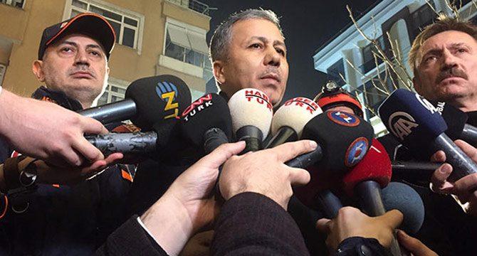 İstanbul Valisi Yerlikaya'dan çöken binayla ilgili açıklama
