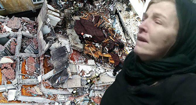 Bahçelievler'de çöken binadan yaralı kurtulan kadın konuştu