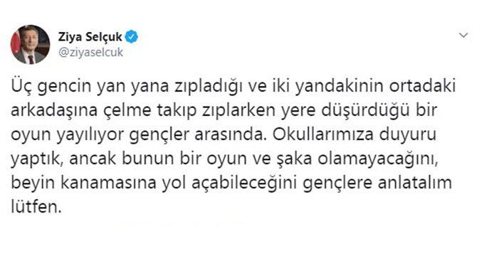 Bakan Selçuk'tan 'çelme takma' oyunu uyarısı