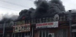 Esenyurt'ta sanayi sitesinde yangın