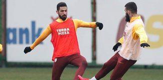 Galatasaray, derbi hazırlıklarını tek eksikle sürdürdü