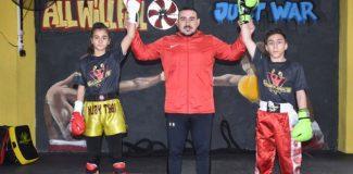 Babalarının desteğiyle başladıkları kick boksta hedefleri milli olmak