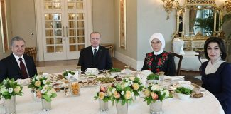 Erdoğan, Özbekistan Cumhurbaşkanı Mirziyoyev ile görüştü
