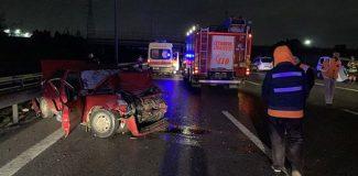 TEM Otoyolu'nda feci kaza: 2 ölü