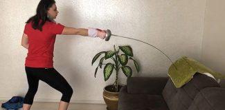 Modern pentatlonun sporcusu Selin Eyüpoğlu: Hayalim olan olimpiyat için çalışmalarıma evde devam ediyorum
