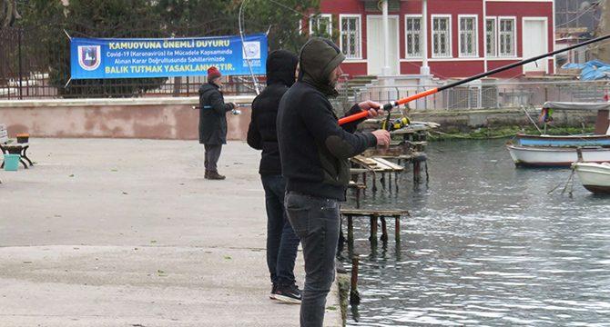 Üsküdar Sahili'nde balık tutmak geçici olarak yasaklandı