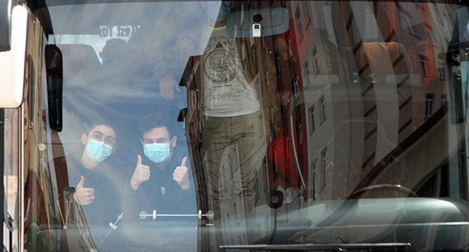 Yurt dışından gelen 98 kişi, Bolu'da yurda yerleştirildi